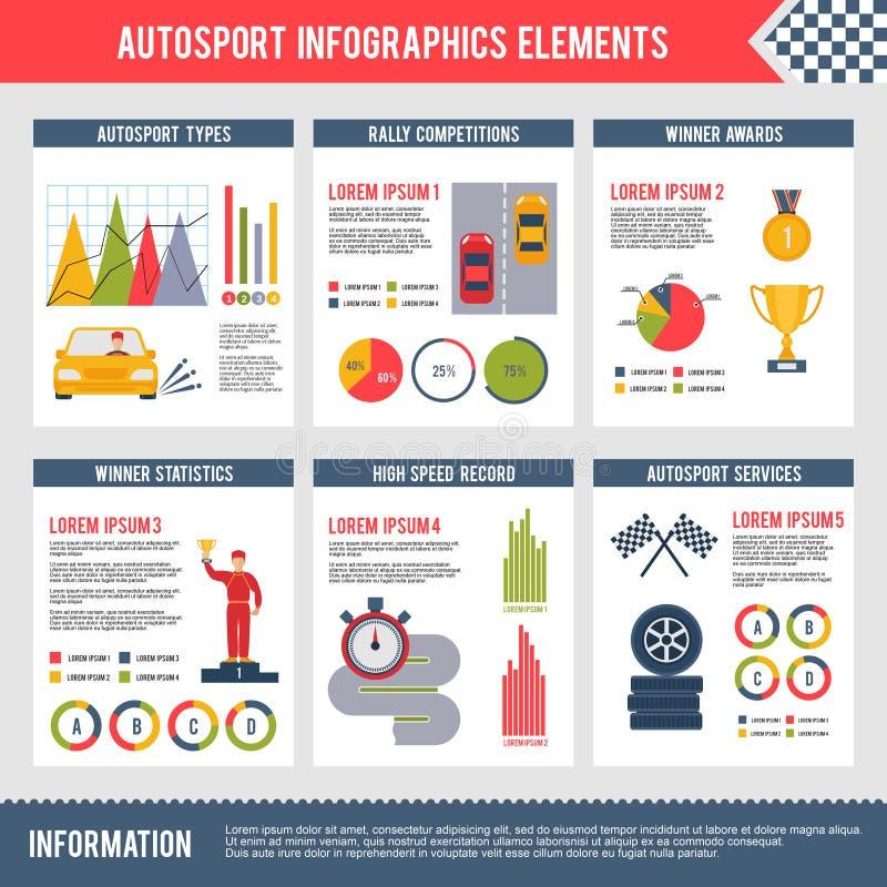 Autosport Infographics stock illustratie