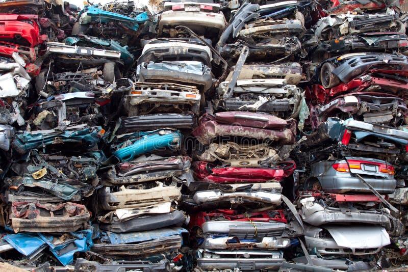 Autostapel zerquetscht lizenzfreies stockfoto