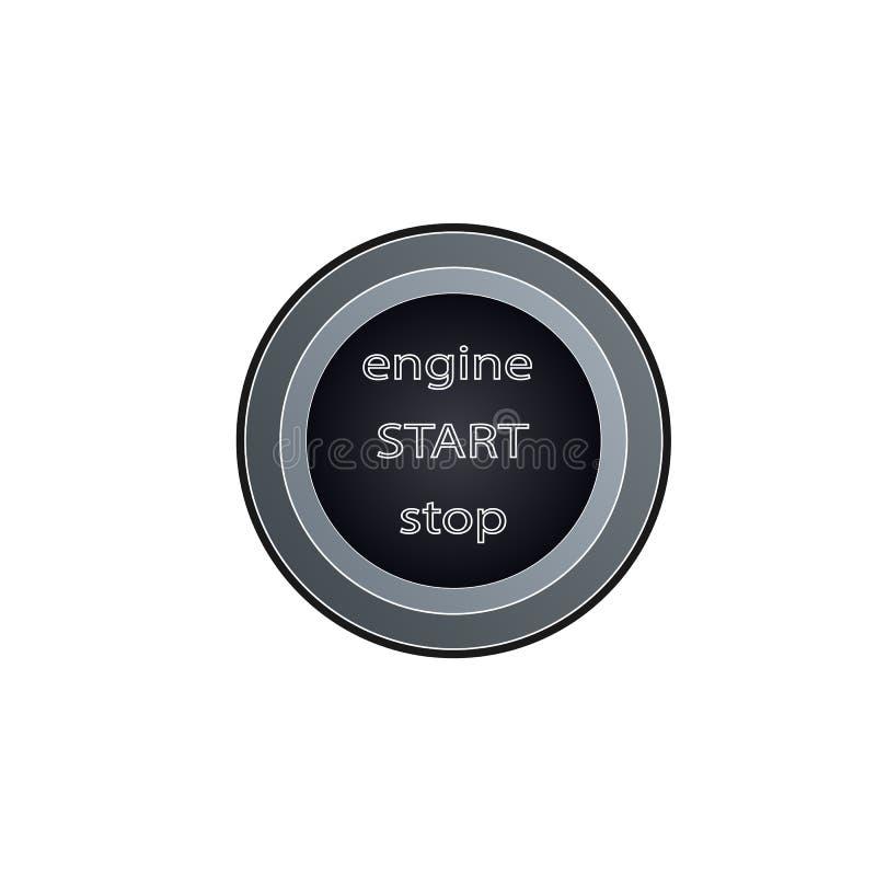 Autostartknopf, lokalisierte Vektorgrafik stock abbildung