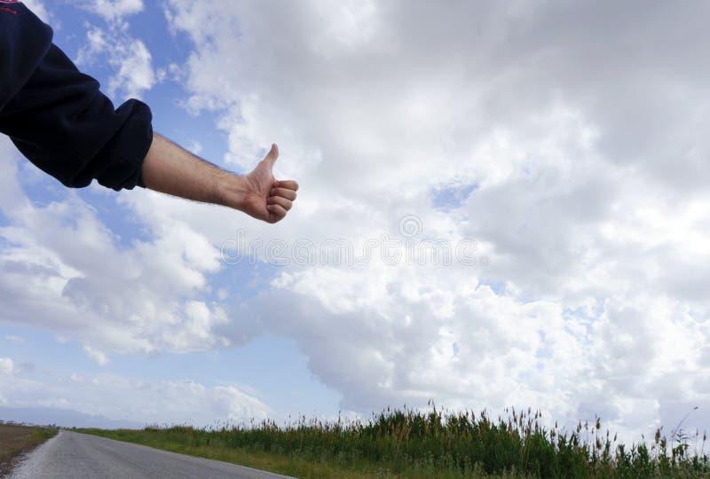 autostopista imagen de archivo