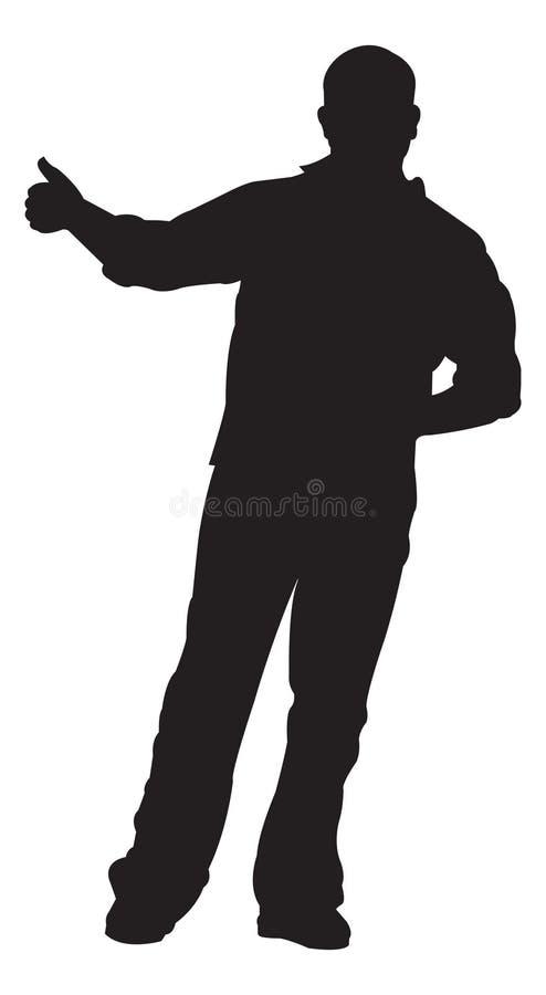 autostopowicz kciuki w górę ilustracja wektor