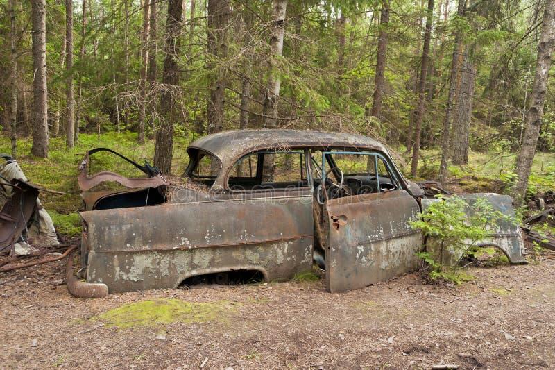 Autostortplaats in Kirkoe Mosse royalty-vrije stock foto