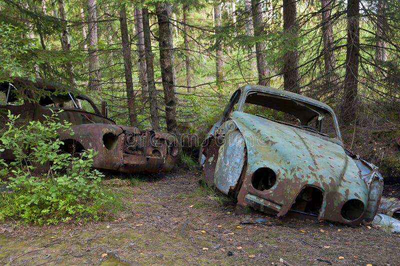 Autostortplaats in Kirkoe Mosse royalty-vrije stock fotografie