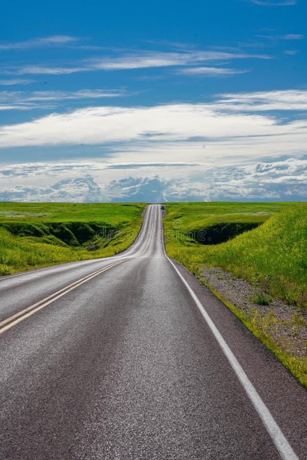 Autostrada attraverso le Badlands del South Dakota immagine stock libera da diritti