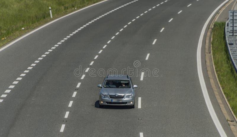 Autostrada blisko Usti nad Labem miasta obrazy stock