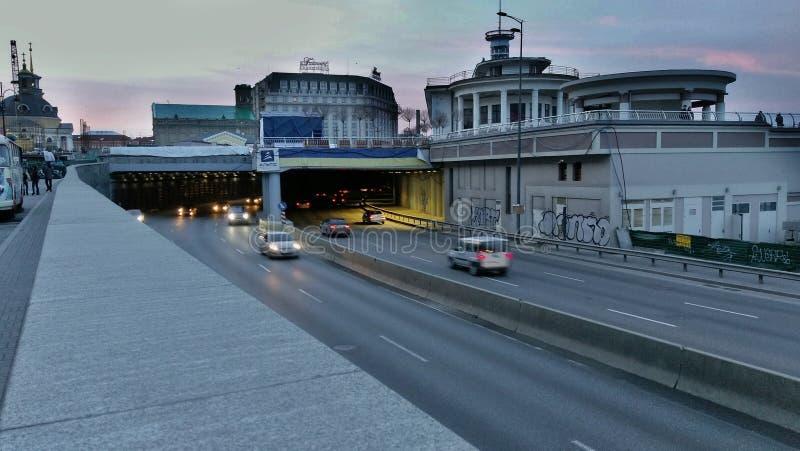 Autostrada dell'argine di Kyiv fotografia stock libera da diritti