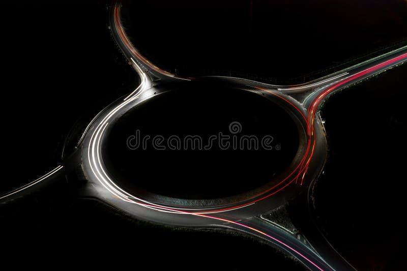 Autostrada di notte D0 a Praga fotografie stock libere da diritti