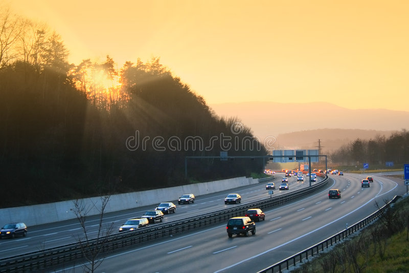 autostrada do sunny fotografia royalty free