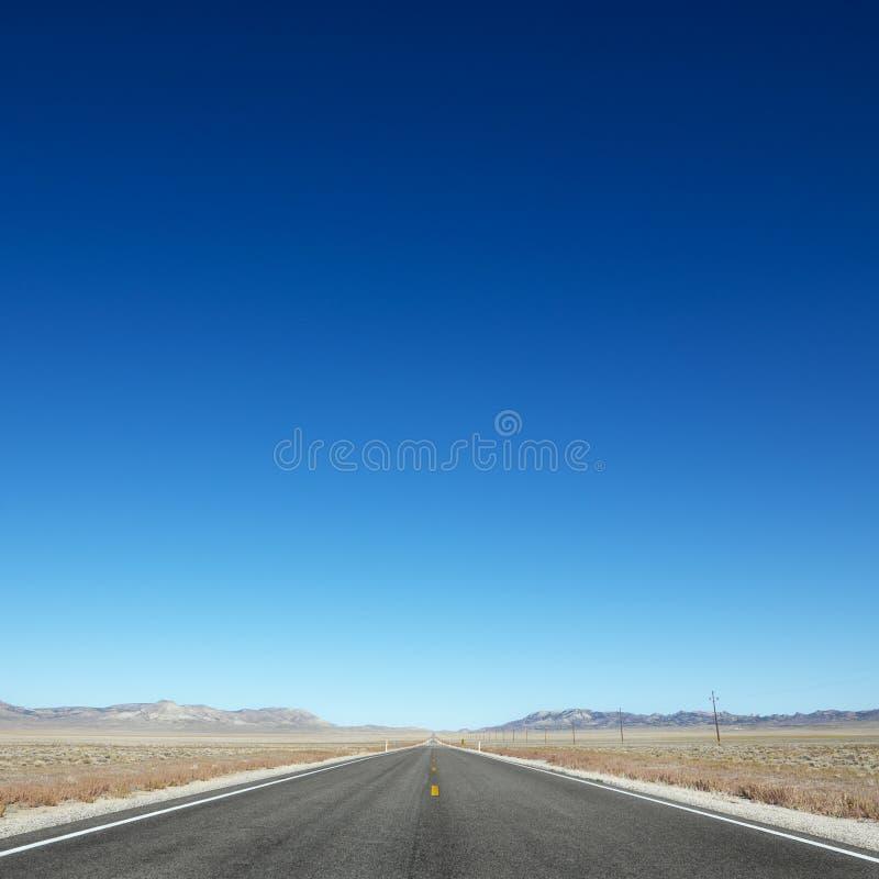 autostrada horyzontu rozciąganie w kierunku zdjęcie stock