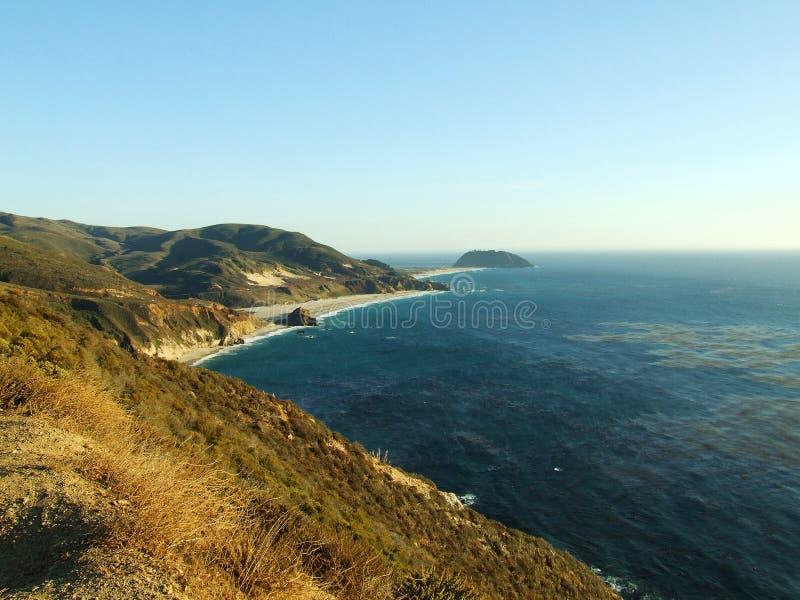 Autostrada Kalifornia 1 Pacyficznego oceanu wybrzeże obrazy stock
