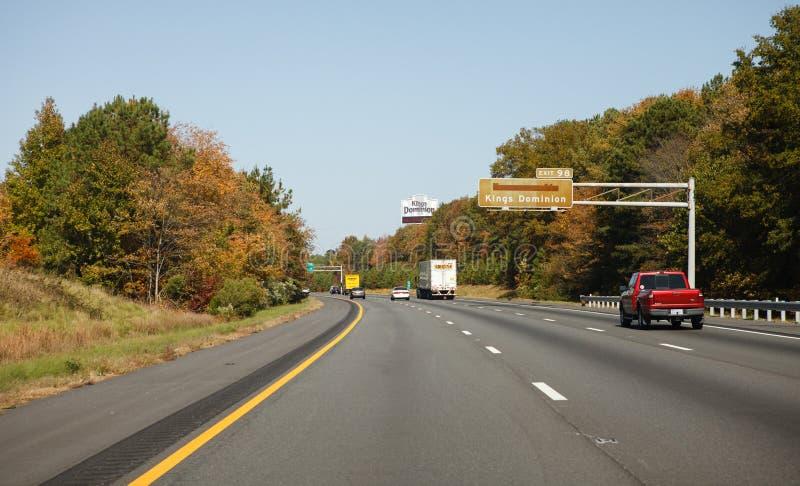 Autostrada Międzystanowa w Virginia 95 zdjęcie stock