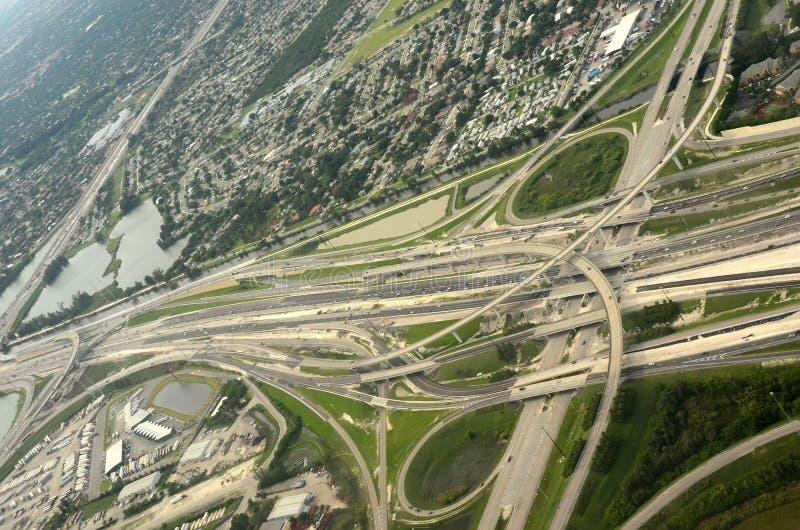 autostrada powietrzny widok fotografia stock