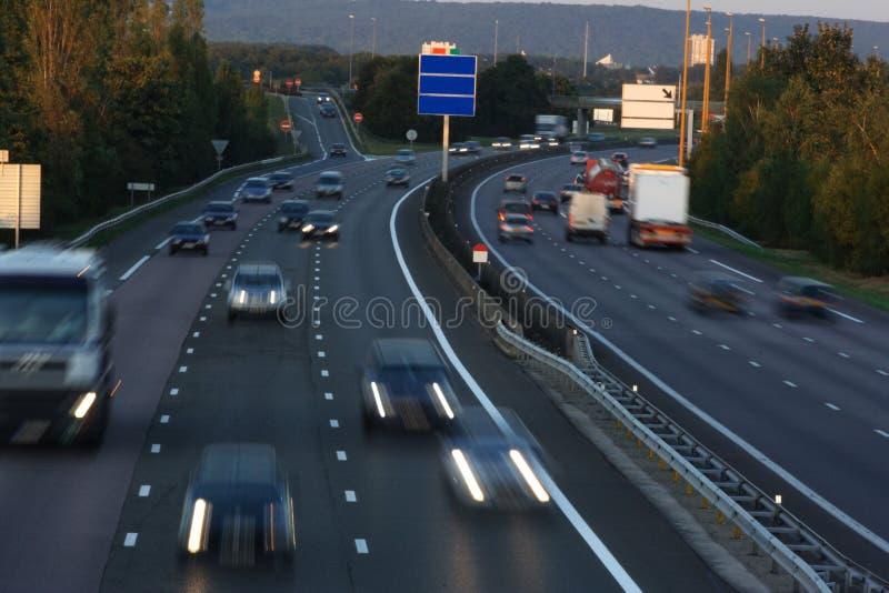 autostrada ruchu zdjęcie royalty free