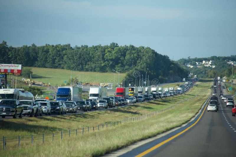 Autostrada ruchu drogowego Międzystanowy impas obraz royalty free