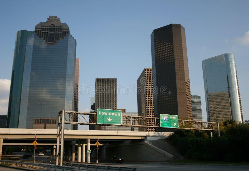 Autostrada senza pedaggio ad Houston immagine stock libera da diritti