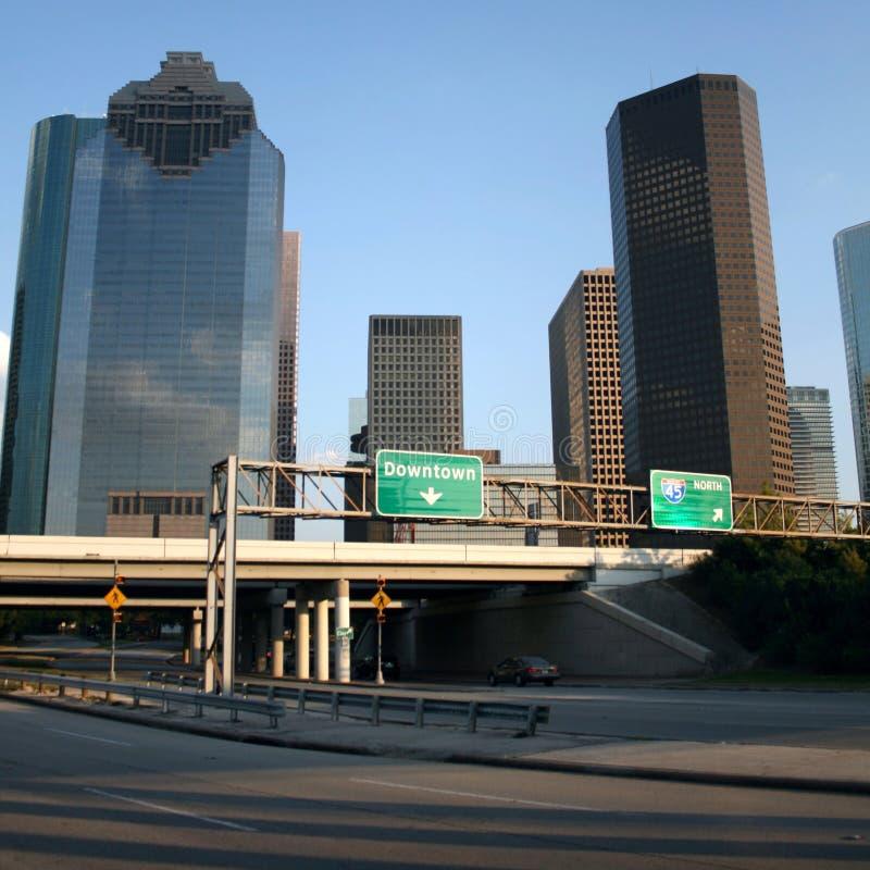 Autostrada senza pedaggio ad Houston immagine stock