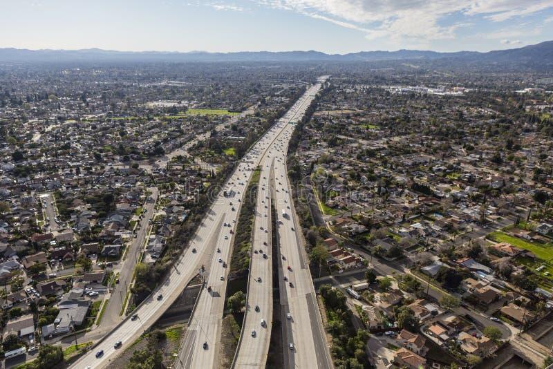 Autostrada senza pedaggio aerea dell'itinerario 118 a Los Angeles fotografia stock
