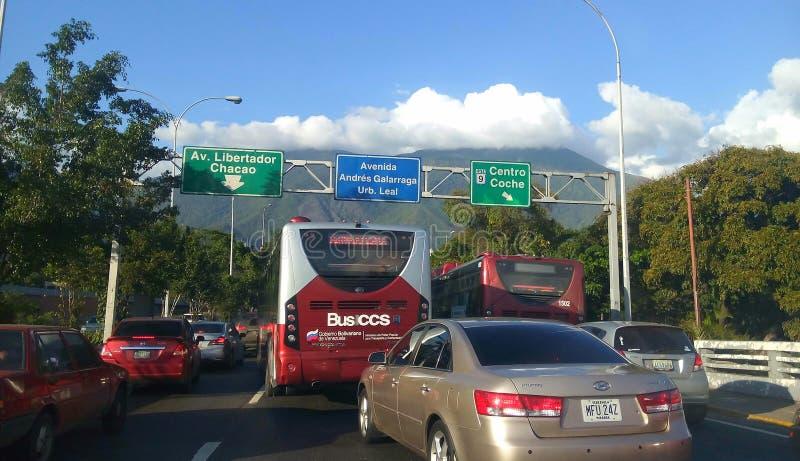 Autostrada senza pedaggio a Caracas ad ovest la zona commerciale Venezuela fotografia stock libera da diritti