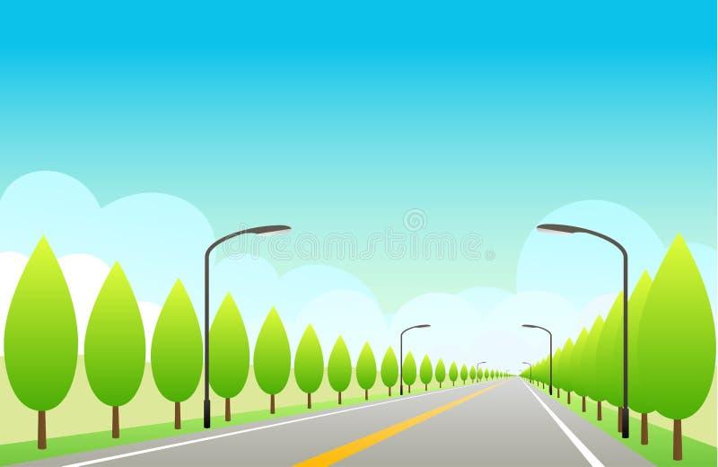 Autostrada senza pedaggio con cielo blu fotografia stock libera da diritti