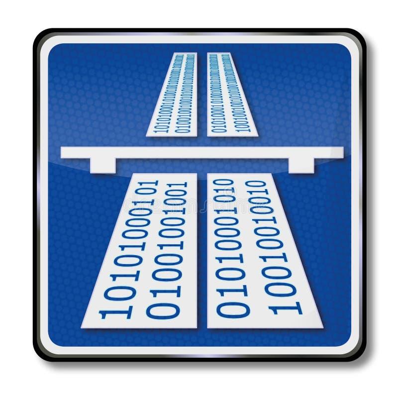 Autostrada telematica illustrazione vettoriale