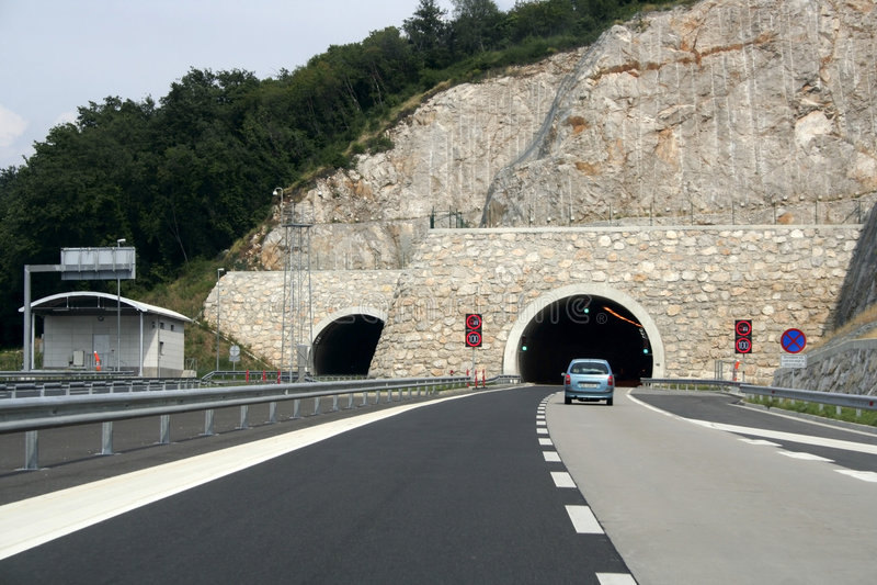 autostrada tunelu zdjęcia stock
