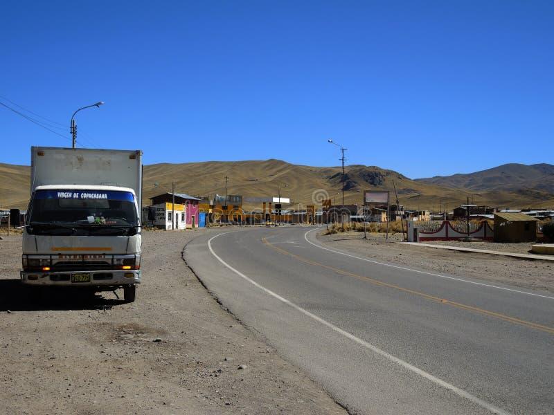 Autostrada w Puno, Peru zdjęcia royalty free