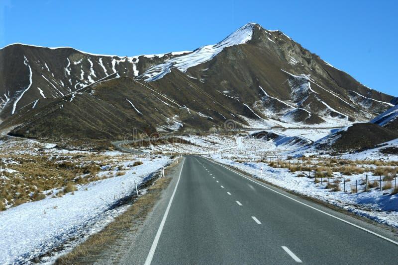 Autostrada w zima zdjęcia royalty free