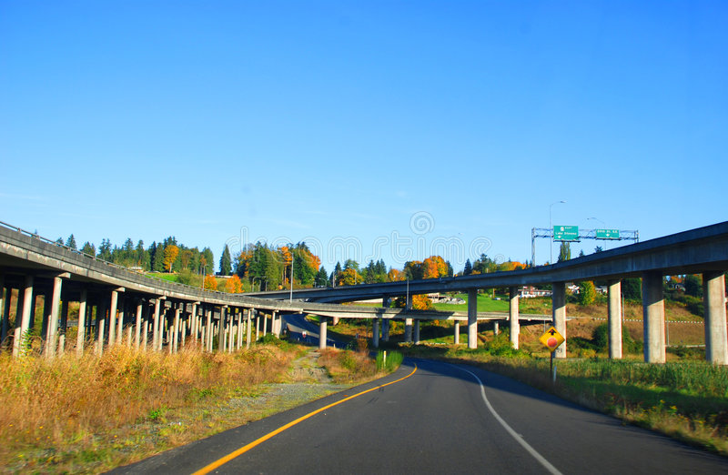 autostrada wiejska zdjęcie stock