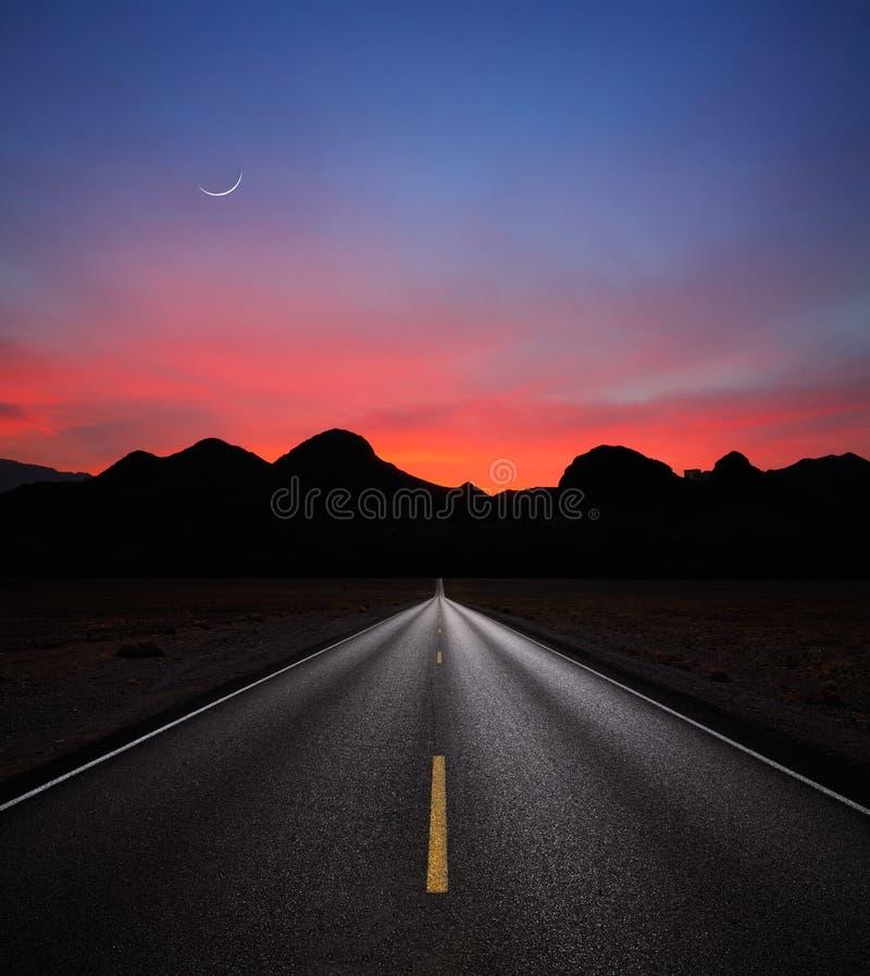 autostrada wschód słońca zdjęcia royalty free