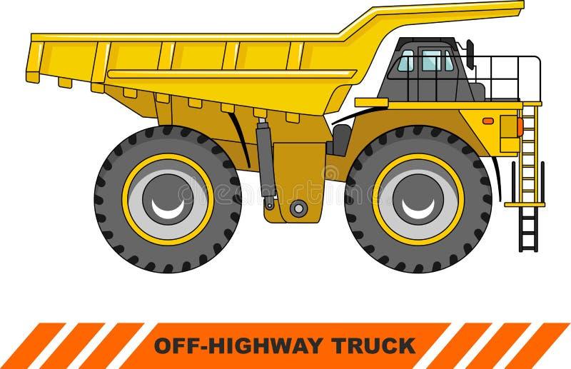 autostrada z ciężarówki kopalnictwo ciężka ciężarówka wektor