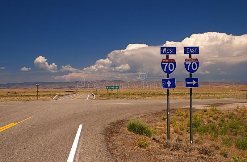 autostrada znaków obraz royalty free