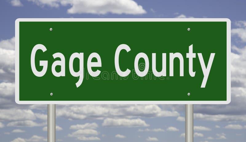 Autostrada znak dla Gage okręgu administracyjnego Nebraska ilustracja wektor