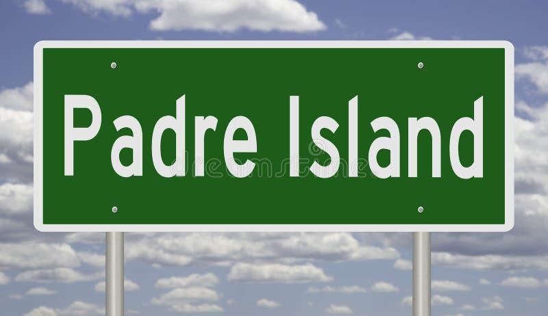 Autostrada znak dla Padre wyspy Teksas zdjęcie royalty free