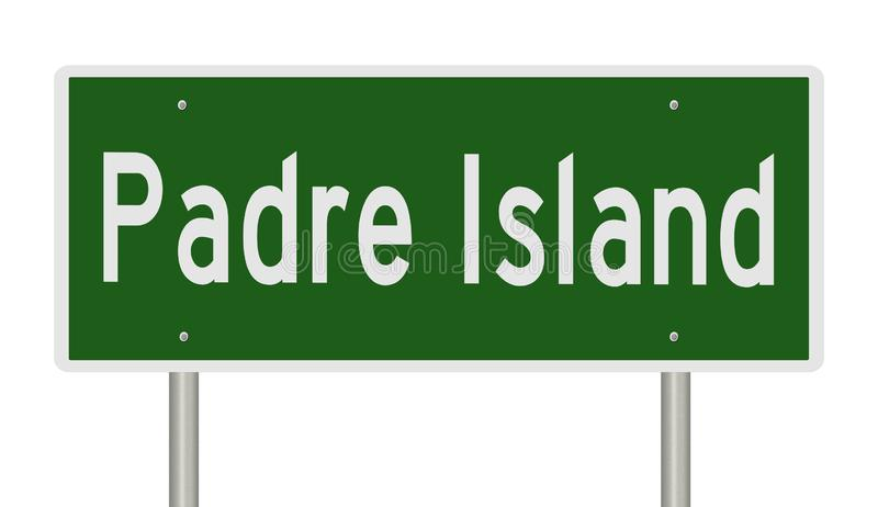 Autostrada znak dla Padre wyspy Teksas ilustracja wektor