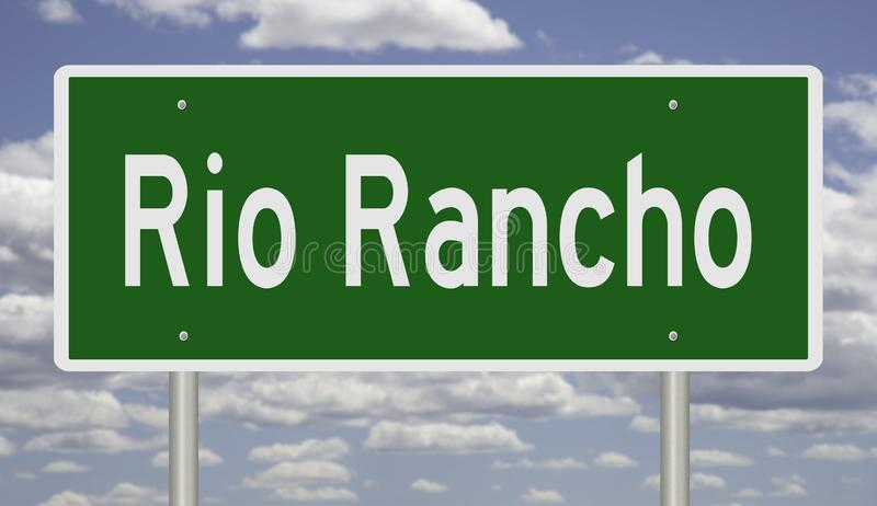 Autostrada znak dla Rio Rancho Nowy - Mexico zdjęcie royalty free