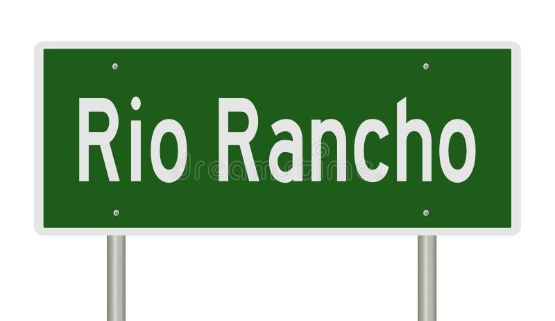 Autostrada znak dla Rio Rancho Nowy - Mexico ilustracji
