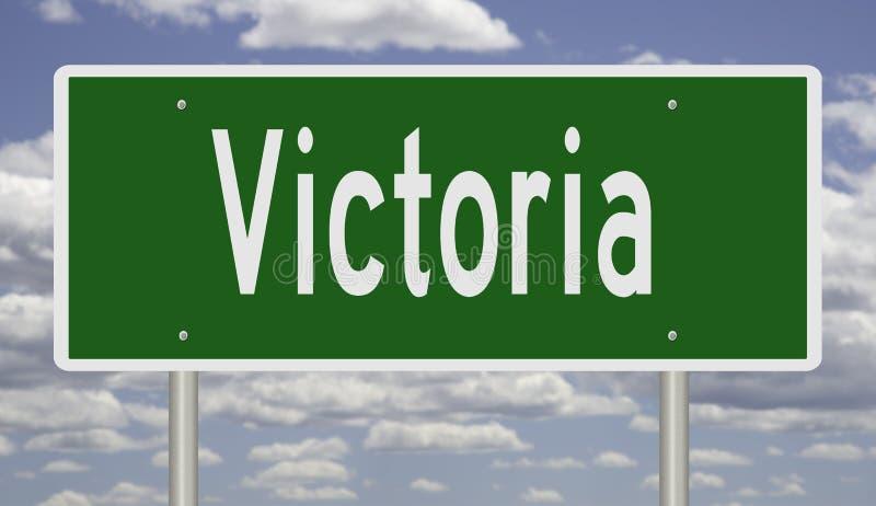 Autostrada znak dla Wiktoria zdjęcie stock