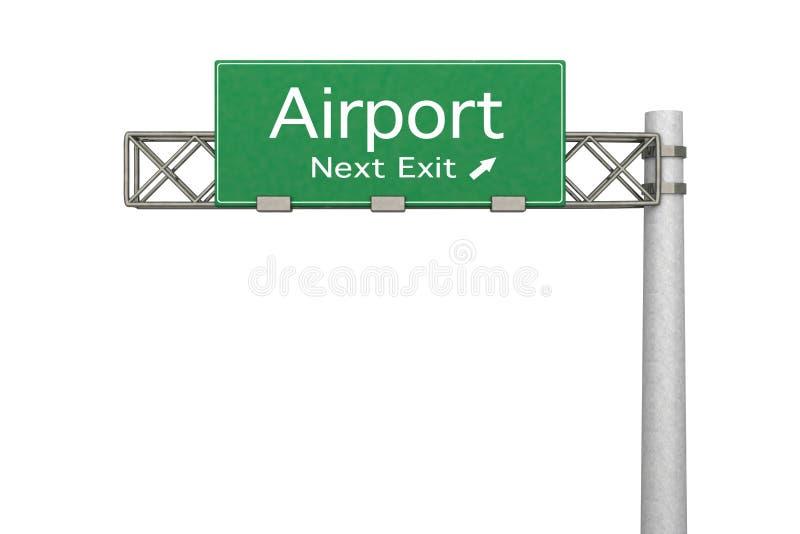 Autostrada znak - lotnisko obrazy stock