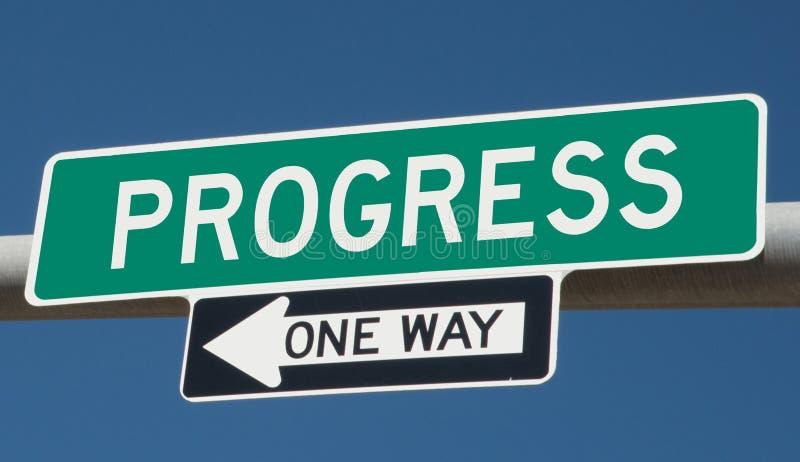 Autostrada znak z postępem i JEDEN sposobem ilustracja wektor