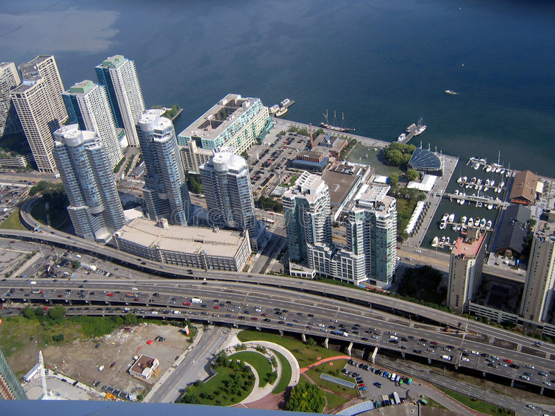 autostrady cn Toronto opinii rzeźnię lakeshore tower obraz royalty free