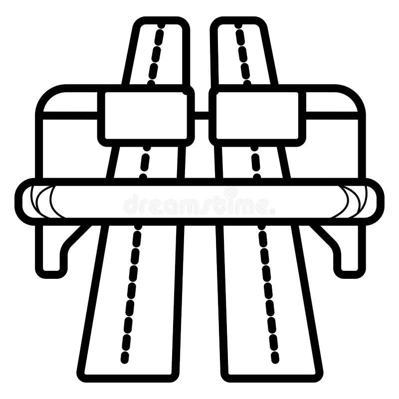 Autostrady lub autostrady ikona ilustracja wektor