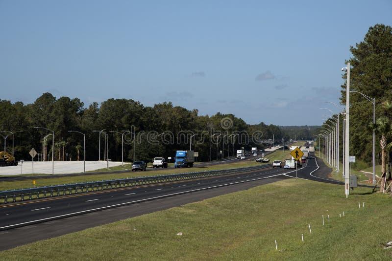 Autostrady międzystanowej Floryda usa obrazy stock