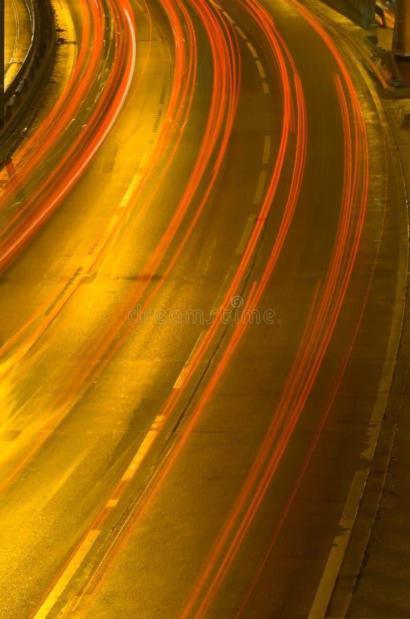 autostrady nocy ruchu zdjęcie royalty free