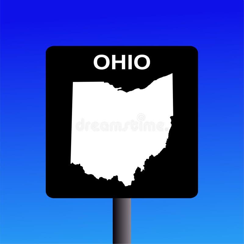 autostrady Ohio znak ilustracja wektor