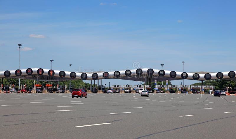 Autostrady opłaty drogowa brama w Francja zdjęcia royalty free