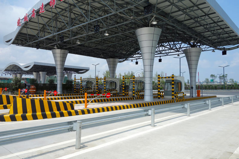 Autostrady opłaty drogowa stacja obrazy stock