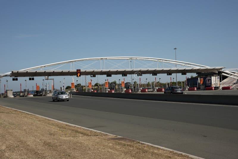Autostrady opłaty drogowa stacja na Francuskiej autostradzie zdjęcia stock