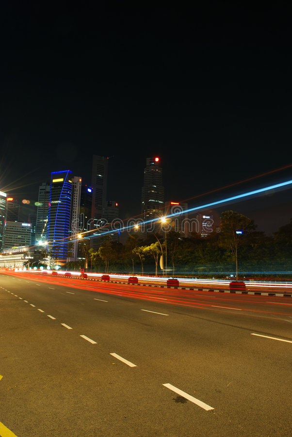 autostrady Singapore prędkość zdjęcia royalty free