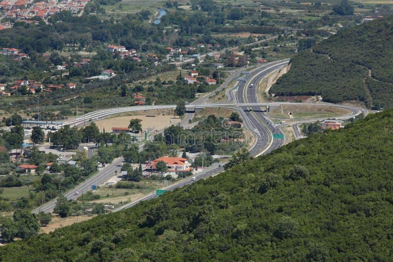 Autostrady skrzyżowanie w Grecja obraz royalty free