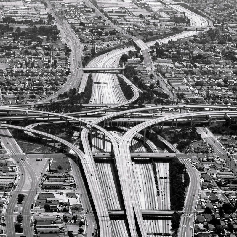 Autostrady skrzyżowanie w los Angeles zdjęcie stock
